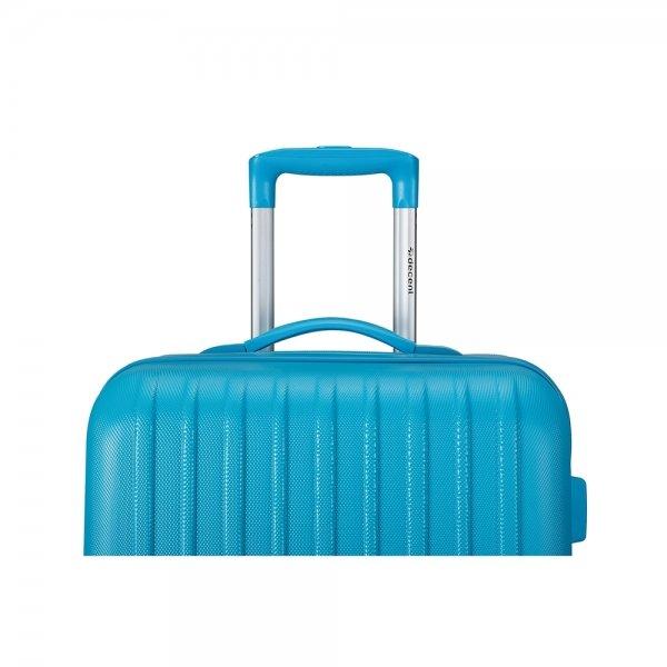 Decent Tranporto One 3-delige Kofferset blauw van ABS