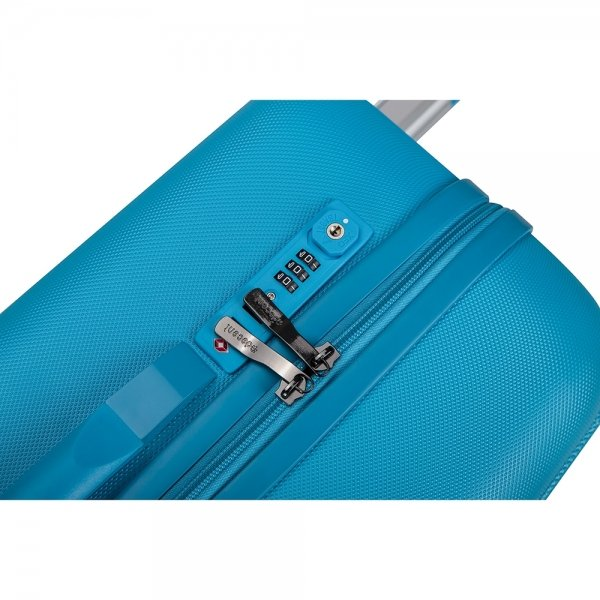 Decent Tranporto One 3-delige Kofferset blauw