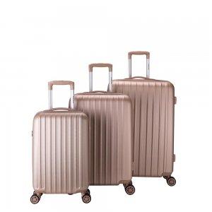 Decent Tranporto One 3-delige Kofferset zalm