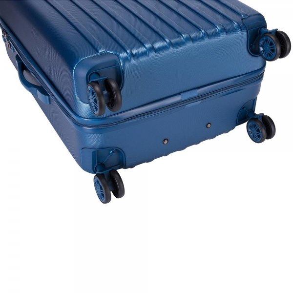 Decent Tranporto One Trolley 55 donker blauw Harde Koffer