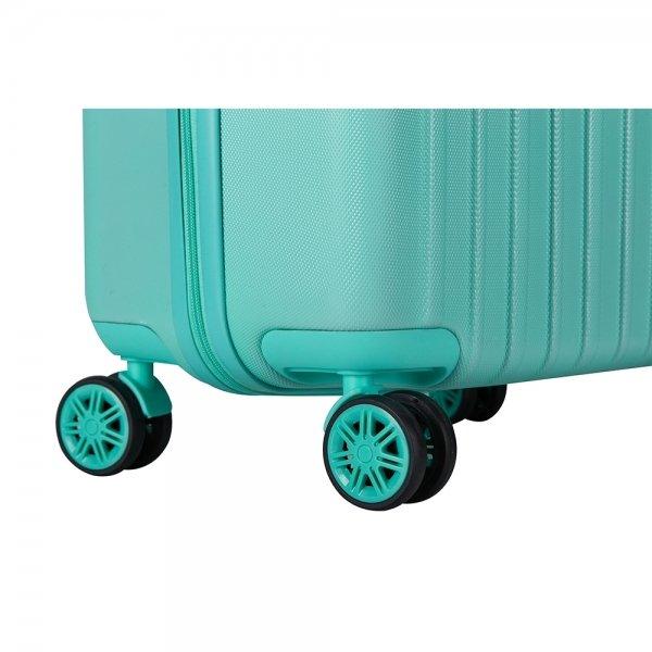 Decent Tranporto One Trolley 55 mint groen Harde Koffer