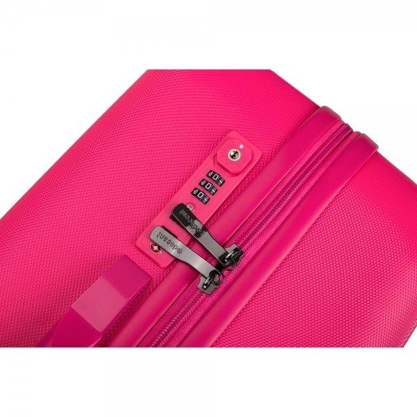 Decent Tranporto One Trolley 55 pink Harde Koffer van ABS