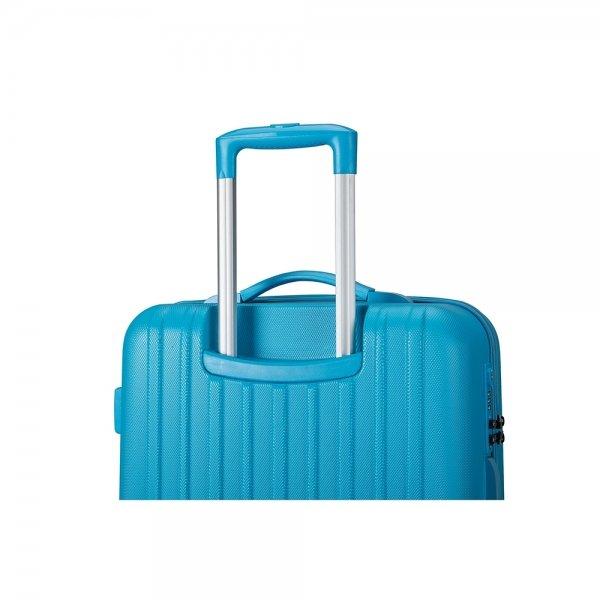 Decent Tranporto One Trolley 66 blauw Harde Koffer van ABS