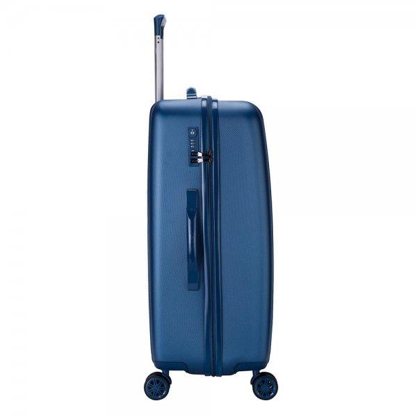 Decent Tranporto One Trolley 66 donker blauw Harde Koffer van ABS