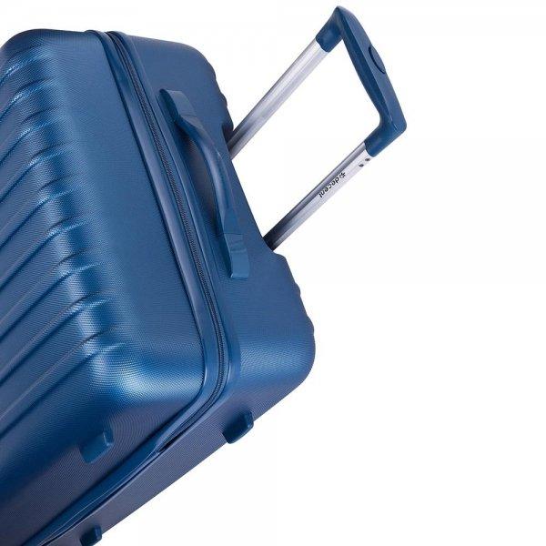 Decent Tranporto One Trolley 66 donker blauw Harde Koffer