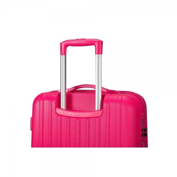 Decent Tranporto One Trolley 66 pink Harde Koffer van ABS