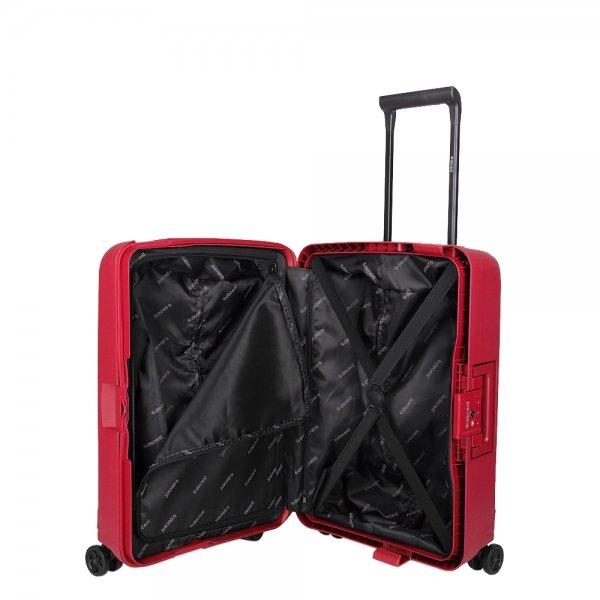 Decent Transit Trolley 70 red Harde Koffer van Polypropyleen