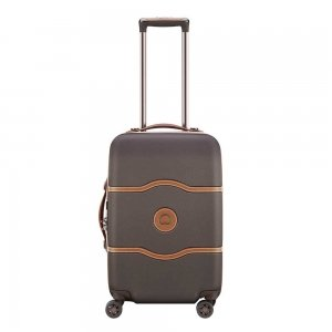 Delsey Chatelet Air 4 Wheel Trolley 55 chocolate Harde Koffer