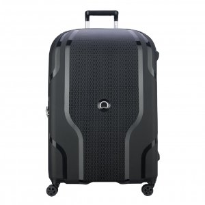 Delsey Clavel 4 Wiel Trolley 83 Expandable black Harde Koffer