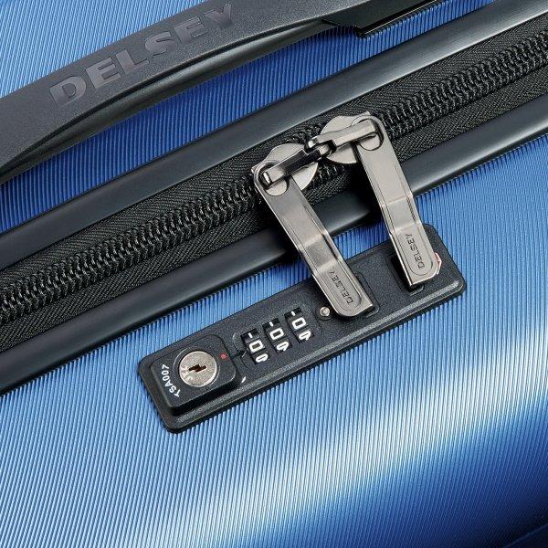 Delsey Comete+ 4 Wiel Trolley 77 light blue Harde Koffer van ABS