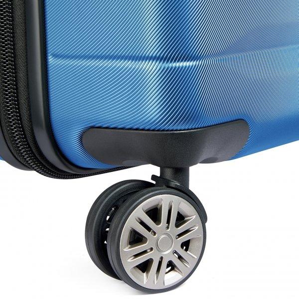 Delsey Comete+ 4 Wiel Trolley 77 light blue Harde Koffer