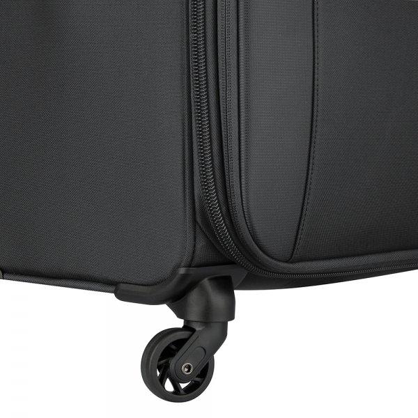 Delsey Mercure 4 Wheel Slim Cabin Trolley black Zachte koffer van Polyester