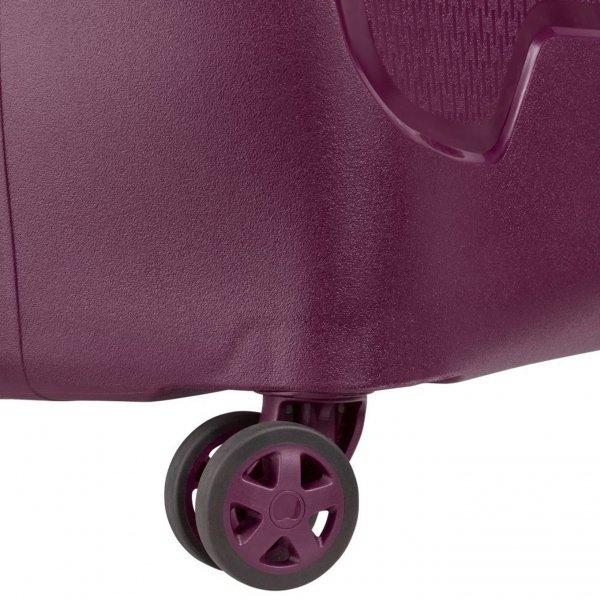 Delsey Moncey 4 Wheel Trolley 55 Slim purple Harde Koffer van Polypropyleen