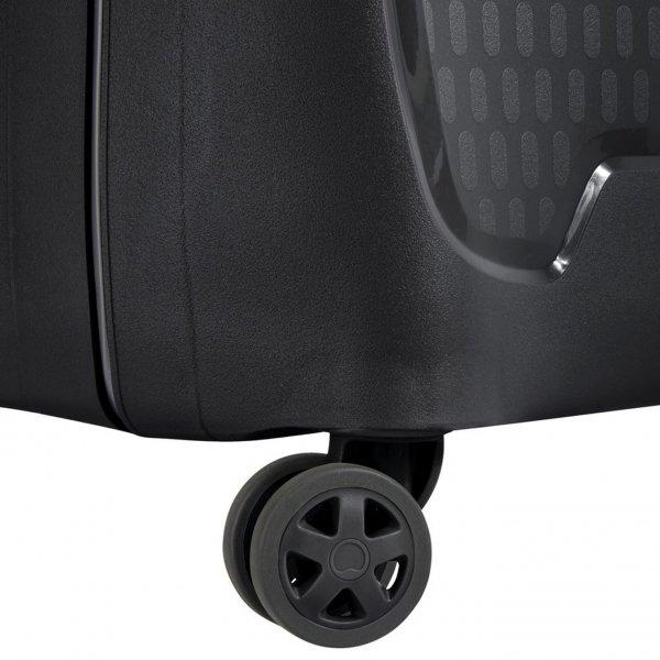 Delsey Moncey 4 Wheel Trolley 70 black Harde Koffer van Polypropyleen