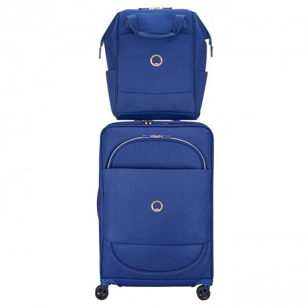 Delsey Montrouge Backpack M blue backpack van Polyester
