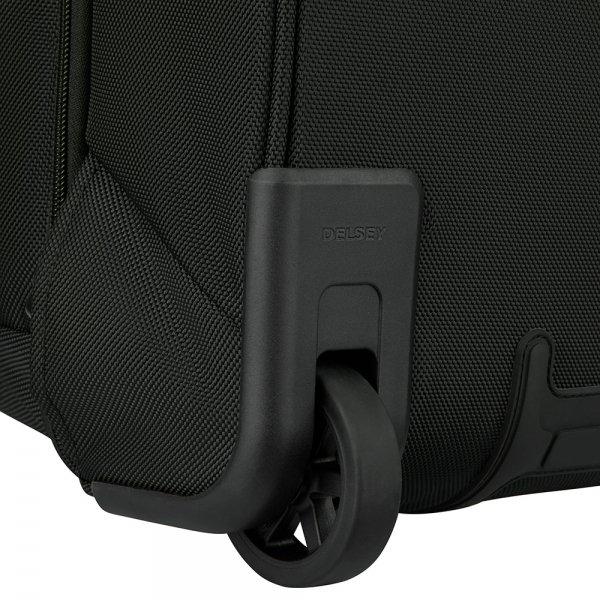 Delsey Parvis Plus Cabin Trolley Backpack 17.3'' black Handbagage koffer Trolley van Polyester