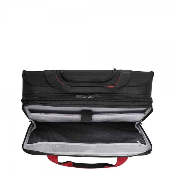 """Delsey Parvis Two Compartment Trolley Boardcase 17"""" black Pilotenkoffer van Polyester"""