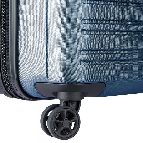 Delsey Segur 2.0 Slim 4 Wheels Trolley 55 blue Harde Koffer
