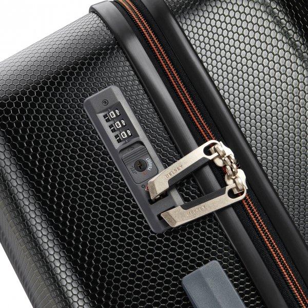 Delsey Toliara 4 Wiel Trolley 66 black Harde Koffer van ABS