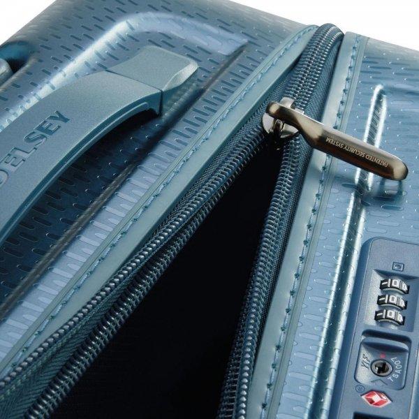 Delsey Turenne 4 Wheel Trolley 55 night blue Harde Koffer van Polycarbonaat