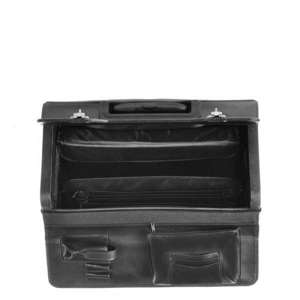 Dermata Business Leather Pilottrolley zwart Handbagage koffer