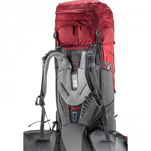 Deuter Aircontact 45 + 10 Backpack cranberry/graphite backpack van Nylon