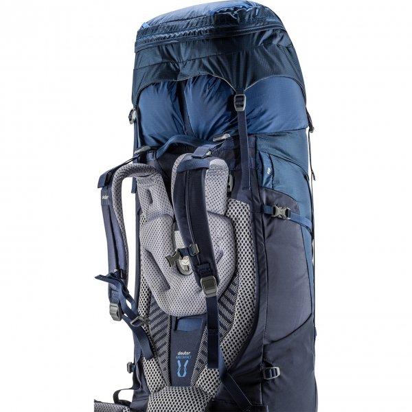 Deuter Aircontact 65 + 10 Backpack khaki/navy backpack van Polyester