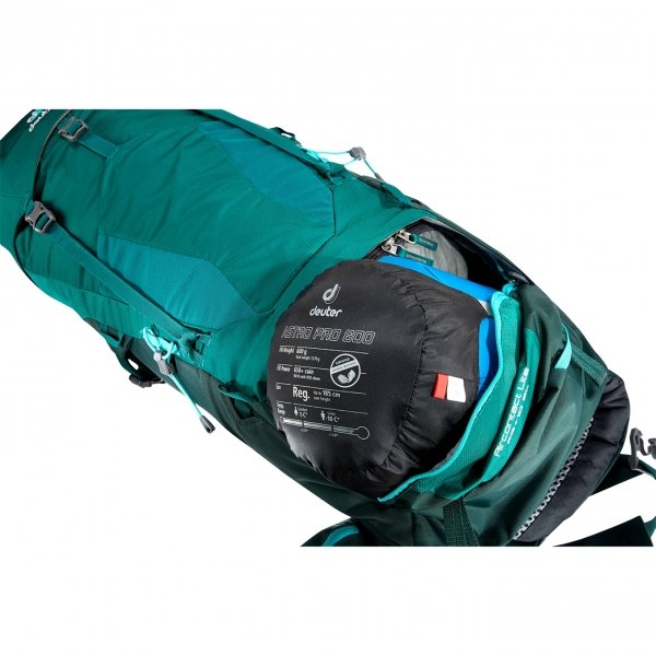 Deuter Aircontact Lite 35+10 SL Backpack alpinegreen / forest backpack van Nylon