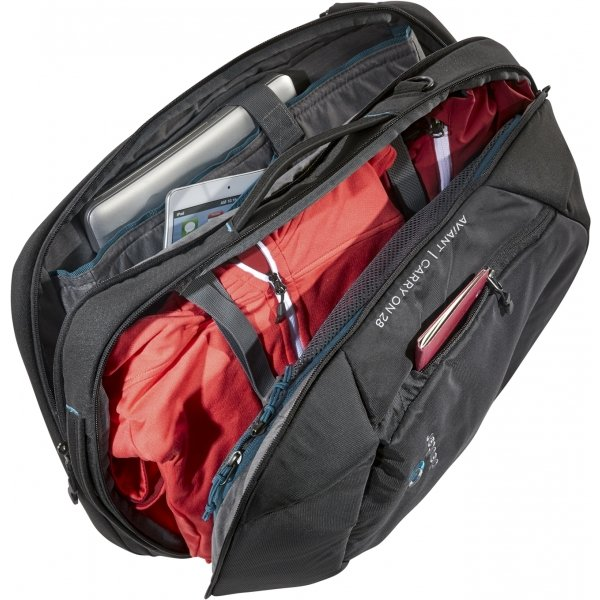 Deuter Aviant Carry On 28 black backpack van Polyester
