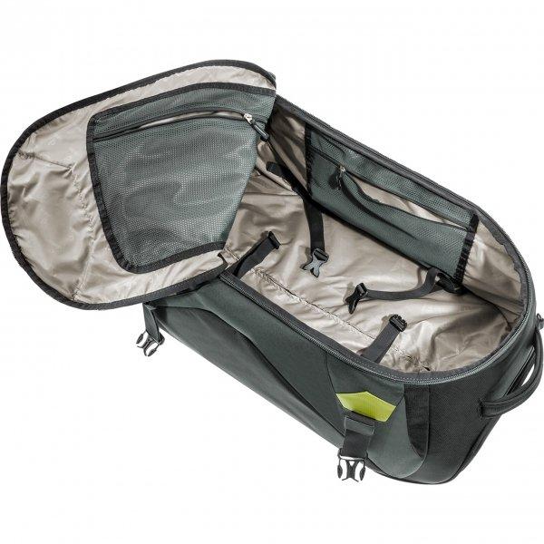 Deuter Helion 80 Travel Backpack black/moss Reistas van Polyester