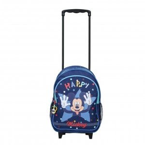 Disney Trolley Rugzak Mickey Mouse Happiness blue Kinderkoffer