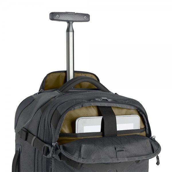 Eagle Creek Gear Warrior Wheeled Duffel International Carry On jet black Handbagage koffer Trolley van Polyester