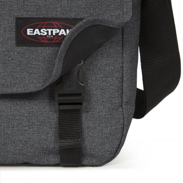 Eastpak Delegate + Schoudertas black denim van Polyester