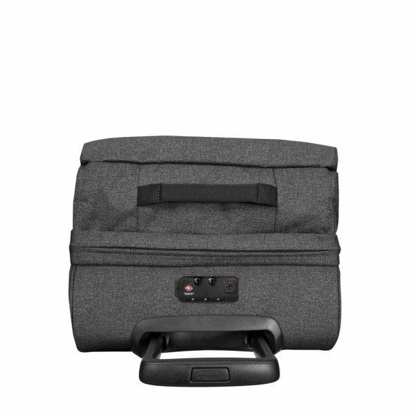 Eastpak Tranverz S black denim Handbagage koffer Trolley van Polyester