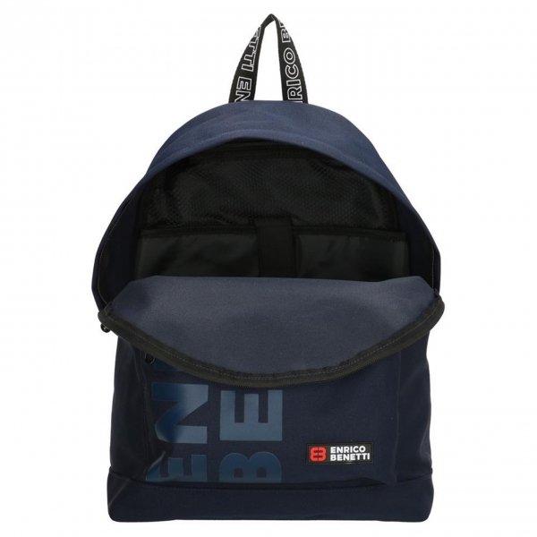 Enrico Benetti Amsterdam City Rugtas 14'' blauw backpack van Polyester