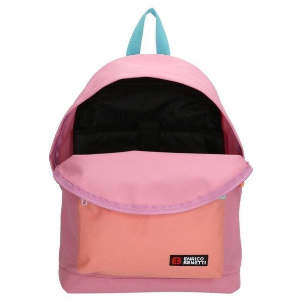 Enrico Benetti Amsterdam City Rugtas 14'' roze backpack van Polyester