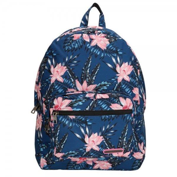 """Enrico Benetti Andorra 15"""" Rugzak navy flower backpack"""