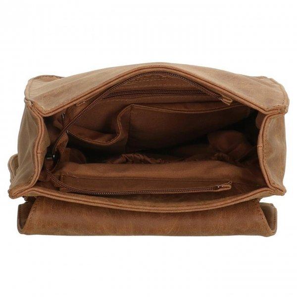 Enrico Benetti Kate Rugtas camel backpack van Imitatie leer