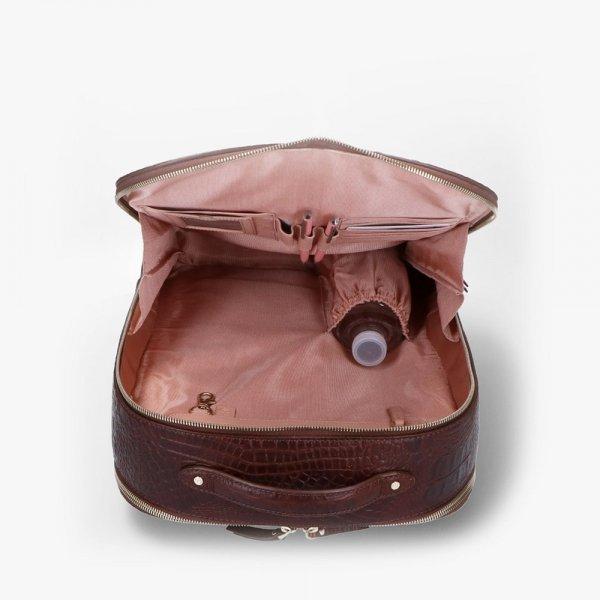FMME. Claire 15.6 Backpack Croco brown backpack van Leer