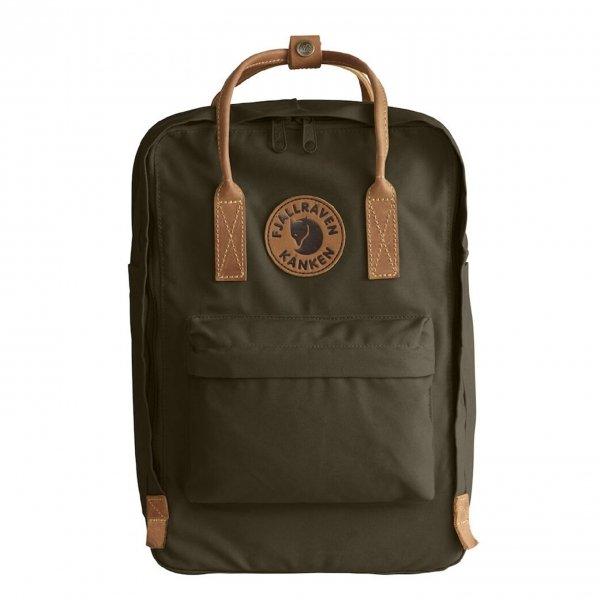 """Fjallraven Kanken No. 2 Laptop 15"""" Rugzak dark olive backpack"""