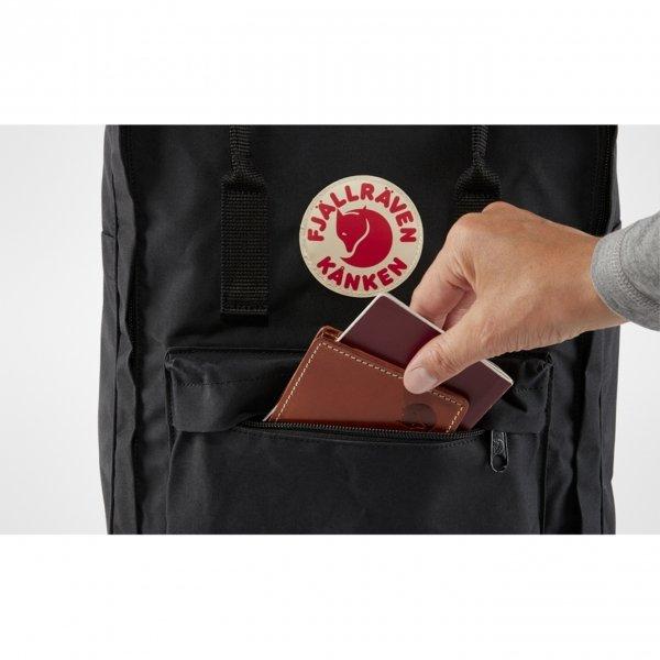 Fjallraven Kanken Rugzak black ox red backpack van Vinylon