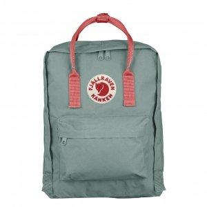 Fjallraven Kanken Rugzak frost green peach pink backpack