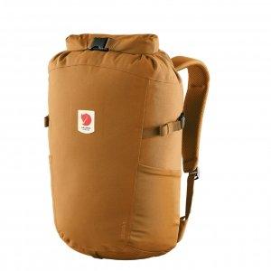Fjallraven Ulvo Rolltop 23 red gold backpack