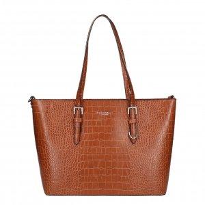 Flora & Co Bags Croco Shopper camel Damestas