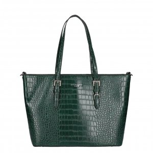 Flora & Co Bags Croco Shopper green Damestas