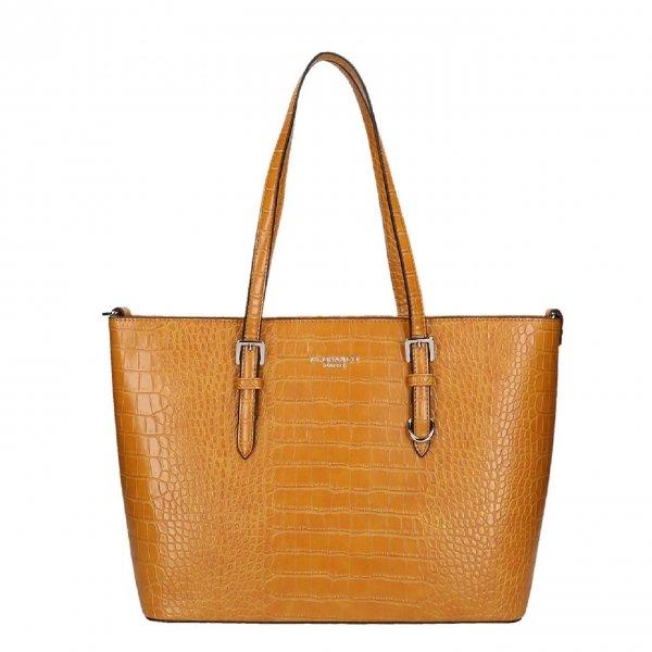 Flora & Co Bags Croco Shopper mustard Damestas