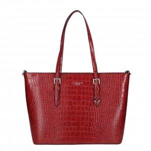 Flora & Co Bags Croco Shopper red Damestas