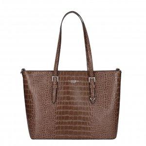 Flora & Co Bags Croco Shopper taupe Damestas