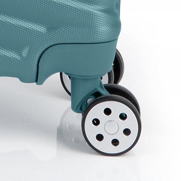Gabol Atlanta Medium Trolley 66 turquoise Harde Koffer van ABS