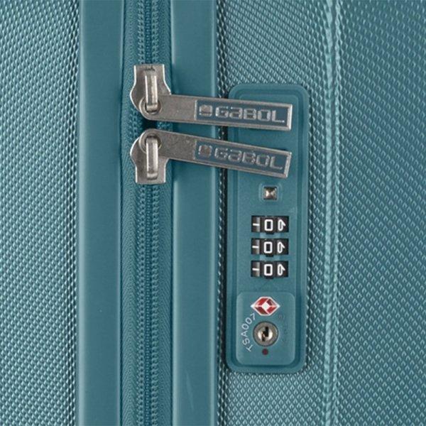 Gabol Atlanta Medium Trolley 66 turquoise Harde Koffer